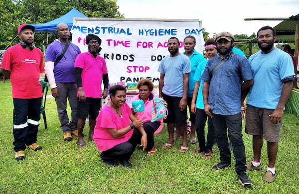 Live & Learn PNG staff at menstrual hygiene promotion event