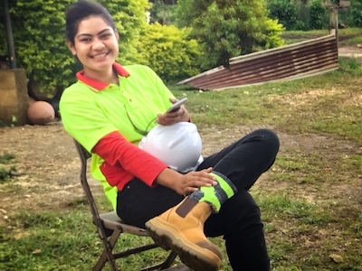 Emiline - First female plumbing graduate in Tonga