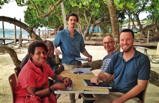Schneider Electric Engineers visit L&L PNG staff
